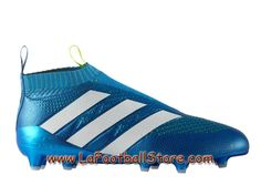 wholesale dealer f2f08 b542f Adidas Enfant Femme Football Chaussure ACE 16+ Purecontrol Primeknit  Terrain souple Shock Blue