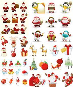 Santa Claus Christmas design elements vector