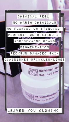 AHAs are becoming very popular in the fight against ageing skin and are getting added to most of the beauty and skin care products. Chemical Face Peel, Sun Damaged Skin, Skin Care Treatments, Acne Scars, Good Skin, Nu Skin, Beauty Box, Beauty Skin, Galvanic Spa