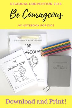 Regional Convention 2018 | Be Courageous! JW Notebook For Kids