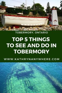 Top 5 Things to See And Do In Tobermory Ontario Family Road Trips, Family Travel, Tobermory Ontario, Flowerpot Island, Ontario Parks, Big Tub, Winter Camping, Travel Guides, Travel Tips