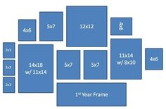 Different Layouts and Sizes to Create a Photo Gallery Wall. Perfect examples/great ideas, so useful