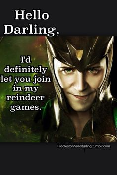 hello darling meme | Don't forget to vote Hiddleston on the eonline celebrity of the year ...