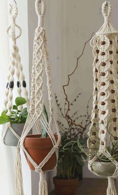 Perfect Macrame Design Ideas – Knitting And We Hanging Wall Planters Indoor, Plants Indoor, Indoor Gardening, Indoor Outdoor, Ceiling Hangers, Wall Plant Hanger, Plant Wall, Dulux Valentine, Diy Projects For Beginners