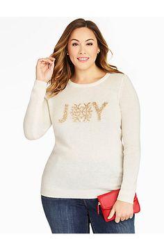 Tinsel Joy Sweater - Talbots