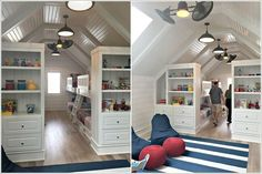 When it comes to extra storage an attic is a wonderful place. There many different ways in which you can turn your attic into a place that provides loads Eaves Storage, Attic Storage, Extra Storage, Attic Rooms, Attic Spaces, Dresser Bed, Mini Loft, Garage Bedroom, Finished Attic