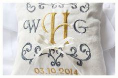Ring bearer pillow wedding ring pillow  Linen by KoTshop on Etsy, $20.00