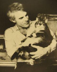 Steve Martin NOT juggling a cat