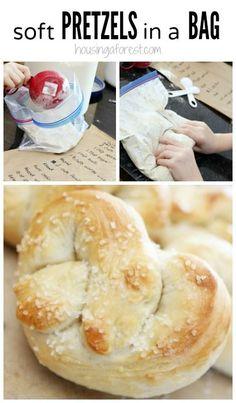 Homemade Soft Pretzels Recipe for Kids - Pretzels in a bag