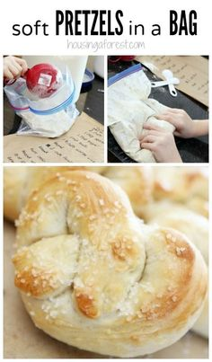 Homemade Soft Pretzels Recipe for Kids - Pretzels in a bag