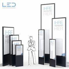 LED Stele, Leuchtreklame, Leuchtwerbung, LED-Pylonen, LED-Stelen, Werbesäule, Firmenbesriftung, Signalisation