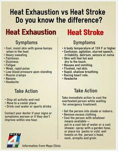Heat Exhaustion vs Heart Stroke Do you know the difference? Survival Life Hacks, Survival Tips, Survival Skills, Survival Stuff, Emergency First Aid, Emergency Medical Responder, First Aid Tips, Workplace Safety, Medical Information