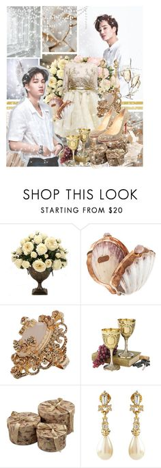 """""""She could be my princess 「Kai」"""" by ahjinssi ❤ liked on Polyvore featuring Allura, Odette, Dennis Basso, Celestina, KING and Christian Louboutin"""