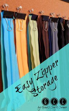 Easy Zipper Storage