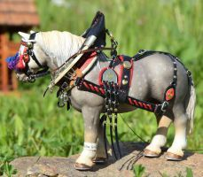 Schleich Percheron in harness  by mojcaj - model horse