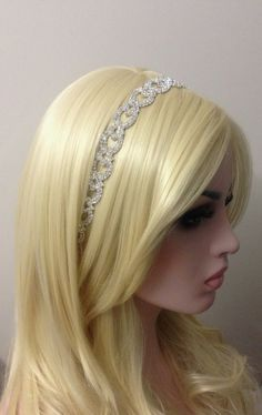 Rhinestone Tiara-Bride Tie Up by RoseybloomBoutique on Etsy