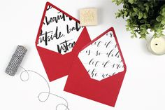 Read More on SMP: http://www.stylemepretty.com/2014/12/18/diy-wrapping-paper-envelope-liners/