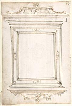 Design for a frame (recto); Design for a cassone (verso)