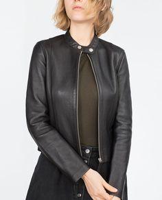 LEATHER JACKET-Jackets-WOMAN | ZARA United States