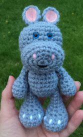 1500 Free Amigurumi Patterns: Little Bigfoot Hippo, Free Hippo Crochet Pattern