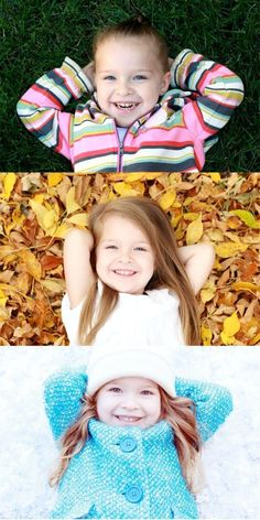 Take a picture every season with your kiddos for a collage in your hallway! I love this idea for when Im a momma one day :)