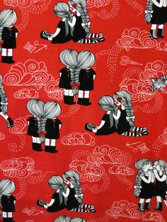 Ystävät yhdessä by Leena Renko for Verson Puoti Friend Together, Stoff Design, Alexander Mcqueen Scarf, Printing On Fabric, Kids Outfits, Cool Stuff, Print Fabrics, Finland, Friends
