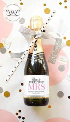 Get ready to pop some bottles with mini champagne kits — note the straw for immediate drinking.