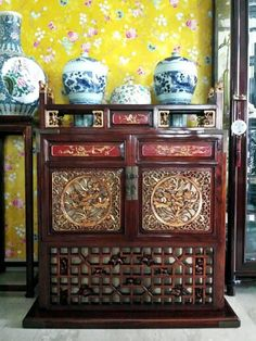 Old chinese wedding chest, restored