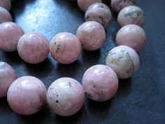 16 Rhodochrosite beads  6mm round rhodochrosite by lilysoffering, $14.89