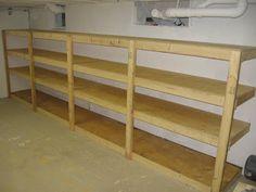 Basement Shelving #2x4 #storage #DIY