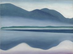 A Painter's Retreat: Georgia O'Keeffe and Lake George  Lake George, 1922, oil on canvas, 16 ¼ x 22 in., San Francisco Museum of Modern Art, Gift of…