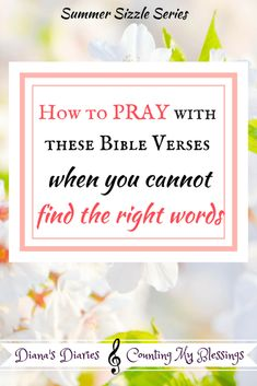 When you cannot find words to pray
