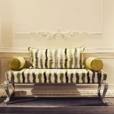 Bench with silver leaf finishing from Salone Internazionale del Mobile - Milano