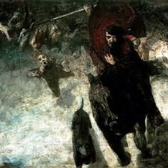 """Die Wilde Jagd"" (The Wild Hunt) [detail] by Franz von Stuck, 1889 #FranzvonStuck"