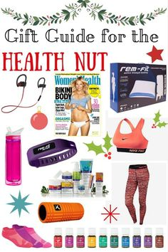 Christmas gift guide for the health nut - Don't know what to get the fitness enthusiast on your Christmas list this year?? Start with this list and anything that promotes a healthy lifestyle