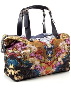The 'Digital Oriental Print Floral Weekender' from Accessorize has a really lovely, colourful and symmetrical print. A roomy, large bag that looks great for Winter weekends away.