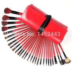 Find More Makeup Brushes & Tools Information about Hot Fashion 30 Pro Makeup Brushes Set Black Silk Animal Hair Red Bag Backage Benefit Cosmetics Brush,Free Shipping,High Quality Makeup Brushes & Tools from Hick Department Store on Aliexpress.com