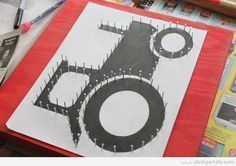 tractor string art - Google Search