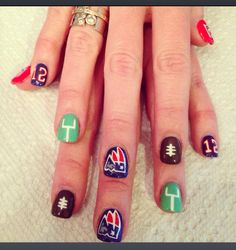 New England Patriots nails by Jennsnails