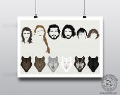Game of Thrones - Minimal Poster by Posteritty #PosterittyStyle #minimalmovieposters #Direwolves #jonsnow