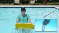 Kickboard Exercises in a Pool, Aquatic Therapy - Doctor Jo shows you some advanced Aquatic Therapy exercises you can do in a pool with a kickboard. For more physical therapy videos or to Ask Doctor Jo a question, visit http://www.AskDoctorJo.com