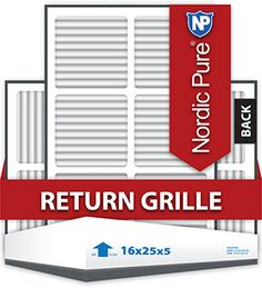16x25x5 Return Grille Replacement Air Filter