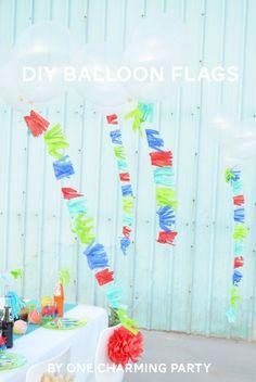 summer fiesta: diy balloon tassels and more