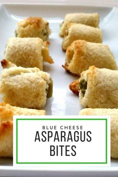 """Blue Cheese Asparagus Bites #SundaySupper are an easy to make but kind of """"fancy""""  appetizer for now or freeze for later- yummy! 