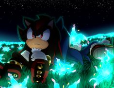 Shadow and Sonic - Luces Shadow The Hedgehog, Sonic The Hedgehog, Silver The Hedgehog, Sonic And Amy, Sonic And Shadow, Sonic Fan Art, Sonic Kawaii, Pokemon, Sonic Franchise