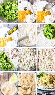 How To Make Chicken Divan Chicken Divan Casserole, Casserole Dishes, 9x13 Baking Dish, Broccoli Cheddar, Creamed Mushrooms, Chicken Enchiladas, Creamy Chicken, Delish, Chicken Recipes