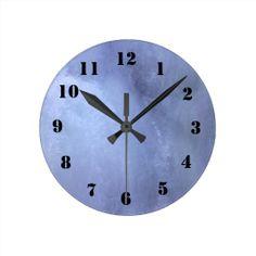 Ice wall round clocks