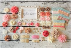 Hot Pink Light Pink White and Gold Baby Shower by LuxeSupplyCo