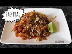 (5) Pad thai - YouTube Asian Kitchen, Chicken, Meat, Youtube, Food, Eten, Meals, Cubs, Kai