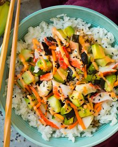 California Sushi Roll Bowls from cooking Classy: One of my family's favorite new recipes of the year #mealplan #familydinner #creativedinner #dinnerrecipes #ricebowl #suchibowl #easydinner #leftovers Sushi Recipes, New Recipes, Vegetarian Recipes, Dinner Recipes, Healthy Recipes, Dinner Ideas, Crab Pasta Salad, Pasta Salad Recipes, Mayonnaise